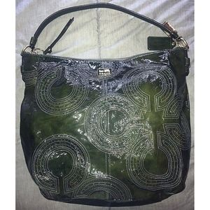 Coach Chelsea Inlaid Patent Leather Hobo